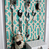 Stenciled jewelry organizer by DIY Design Fanatic.
