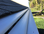 Gutter guards in place