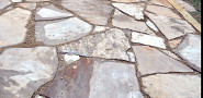 Flagstone patio and photo by Kevin Stevens of KMS Woodworks