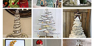 All photos of DIY Christmas trees via Hometalk.com.