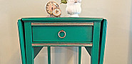 Emerald side table by The Modage Cottage.