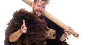 Photo of dudebro cave man by Ershova_Veronika/istockphoto.com.