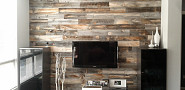 Reclaimed weathered wood by Stikwood via Stickwood.com.