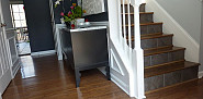Slate stair risers and photo via Ana M. via Hometalk.com.
