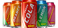 Photo of metal soda cans by scanrail/istockphoto.com.