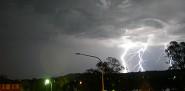 Lightning hits a suburban neighborhood. (Photo: alographic/sxc.hu)