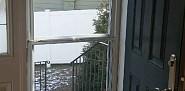 Storm door installation