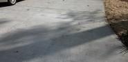 New concrete driveway installation
