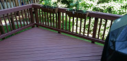 Smooth new deck refinish