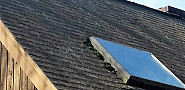 BEFORE moss growth on roof