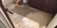 BEFORE DIY bathroom floor demo