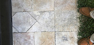 Travertine tile repair