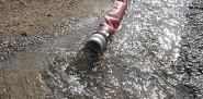 A sump pump in a flooded basement.  Photo: dewlittle/stock.xchng