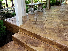 Awesome  Stamped Concrete Porch