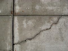 Crack and Lines in Concrete Tiles