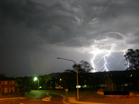 Lightning hits a suburban neighborhood. (Photo: alographic/sxc.hu)