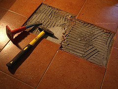 Floor Tile Repair how to repair a cracked bathroom floor tile 8 Tile Floor Repair Tips Networx