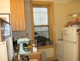 This is my tiny kitchen. See the dishes in the bottom left corner?