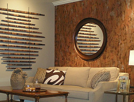 Photo: An accent wall by Kass Wilson/Wallsreat Studio. Via Hometalk.com.