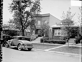 Al Capone's home at 7244 S. Prairie Ave. [via Wikimedia]
