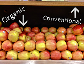 For pennies more, you can buy organic. All you have to do is shop carefully. (Photo by Sayward Rebhal)