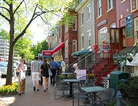 Georgetown in Washington D.C. is a walkable neighborhood. (Photo: dewitah/flickr)