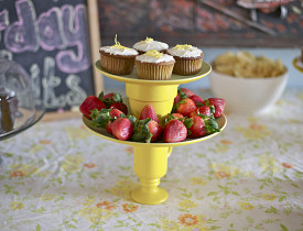 The instructions for making this DIY cake stand are in this article. Photo by Sayward Rebhal.
