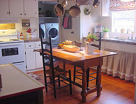 This French Country kitchen is actually in an American double wide trailer. Photo and kitchen by Magazine Your Home via Hometalk.com.
