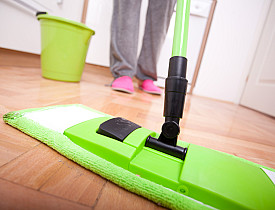 A Soft Dust Mop And A Little Water Are All You Need To Clean A Hardwood