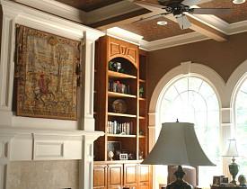 Do you see how the brown paint and white trim complement each other? I designed this room and an Atlanta painting contractor painted it. --Lee Anne