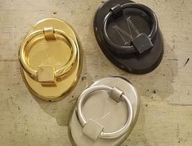 Oval door knockers by Pottery Barn. Photo: Potterybarn.com
