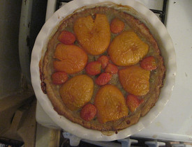 Whole spelt vegan vegetable tart made by Networx's editor, Chaya. Ask her how to make it!