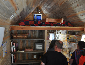 Inside Cris and Merete's tiny house. Photo by the author.