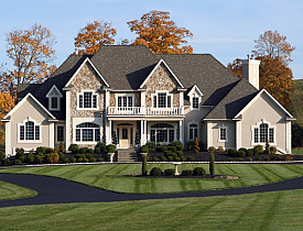 This McMansion is large and in charge.  (iStock)