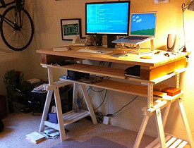 A standing desk.  zappowbang/Flickr