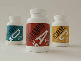 Vitamin bottle design by Colin Dunn (via Flickr Creative Commons)