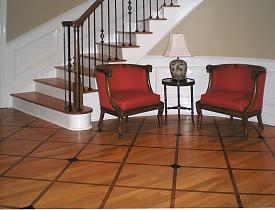 A custom wood floor by Wallstreat Studio, an Atlanta custom painter.  See more: Kasswilson.com