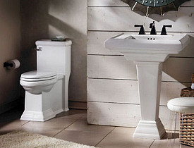 These are WaterSense certified fixtures by American Standard. Pretty nice, eh? [Photo via American Standard/ResponsibleBathroom.com]