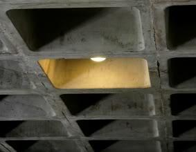 concrete waffle slab ceiling