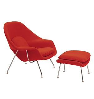 The Knoll Saarinen Womb Chair via Knoll