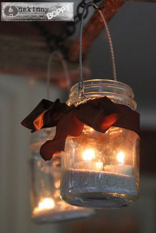 Mason jar candle holder by Beth B. of Unskinnyboppy.com via Hometalk.com.