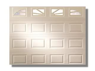 white garage door with windows
