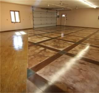 LuxuryHousingTrends.coma Stained Concrete Garage Floor By SpecialEffex