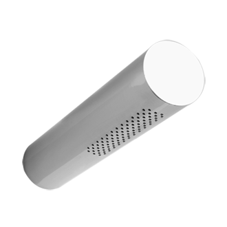 Gessi Segni Round Tubular Shower Head via Gessi.it.