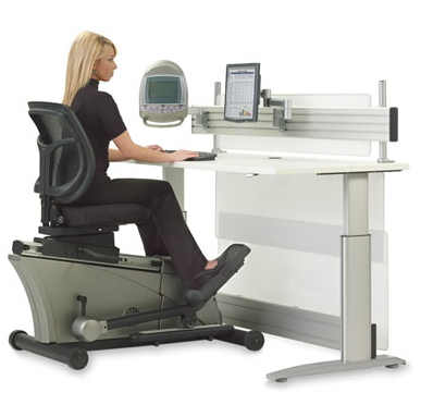 The Elliptical Bike Desk Chair via Hammacher.com