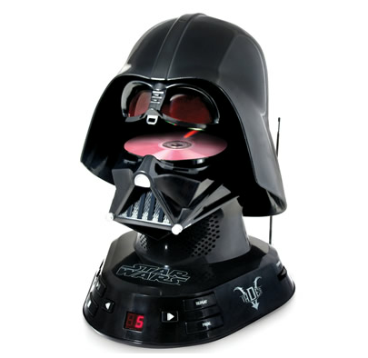 The Darth Vader CD Player via Hammacher.com