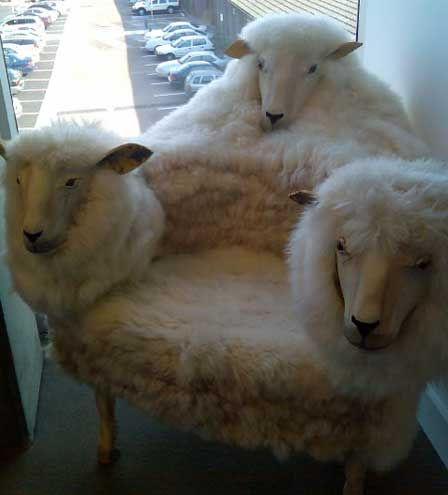 3 Headed Sheep Chair via Freshome.com