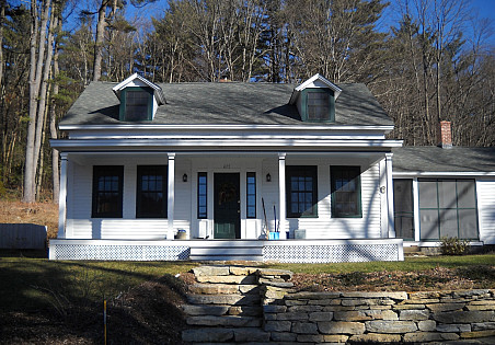 Historic home regulations mandated that the Brydens keep the farmhouse look of their house's exterior.