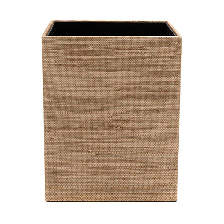 The Raffia Square Wastebasket from Waterworks