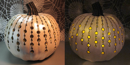 Painted pumpkin by FryKitty via Flickr